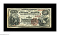 National Bank Notes:Kentucky, Glasgow, KY - $10 1882 Brown Back Fr. 485 The First NB Ch. #(S)4819. Just seven large notes are recorded in the Kelly c...