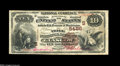 National Bank Notes:Kentucky, Glasgow, KY - $10 1882 Brown Back Fr. 490 The Trigg NB Ch. #(S)5486. This is one of only three Brown Backs extant from ...