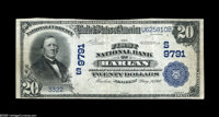 Harlan, KY - $20 1902 Plain Back Fr. 653 The First NB Ch. # (S)9791 The second of the now two notes known from this ver...