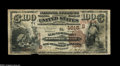 National Bank Notes:Kentucky, Henderson, KY - $100 1882 Brown Back Fr. 529 The Henderson NB Ch. #(S)1615. This is one of just nineteen $100 Brown Bac...