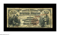 National Bank Notes:Kentucky, Hopkinsville, KY - $20 1882 Brown Back Fr. 497 The First NB Ch. #3856. One of just two early notes known from this scar...
