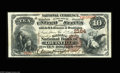 National Bank Notes:Kentucky, Louisville, KY - $10 1882 Brown Back Fr. 487 The Citizens NB Ch. #2164. A nice example for type from one of Louisville'...