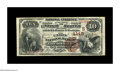 National Bank Notes:Kentucky, Louisville, KY - $10 1882 Brown Back Fr. 484 The Union NB Ch. #(S)4145. A $10 Brown Back which is well matched to the o...