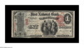 National Bank Notes:Kentucky, Nicholasville, KY - $1 1875 Fr. 385 The First NB Ch. # 1831. Thisattractive piece is the only Series 1875 ace listed in...