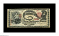 National Bank Notes:Kentucky, Nicholasville, KY - $2 1875 Fr. 392 The First NB Ch. # 1831. Thisexample is one of only about a dozen Series 1875 deuce...