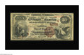 National Bank Notes:Kentucky, Owensboro, KY - $10 1882 Brown Back Fr. 490 The National DepositBank Ch. # (S)4006. Collectors will have to make do wit...