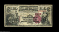 National Bank Notes:Kentucky, Owenton, KY - $100 1882 Brown Back Fr. 519 The First NB Ch. # 2868.This small bank elected to issue only high denominat...