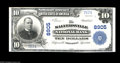 National Bank Notes:Kentucky, Salyersville, KY - $10 1902 Plain Back Fr. 626 The Salyersville NBCh. # 8905. A very tough bank in large size, with thi...