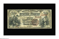 National Bank Notes:Kentucky, Wickliffe, KY - $20 1882 Brown Back Fr. 504 The First NB Ch. #5443. This is a very tough bank which issued Second Chart...