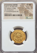 Ancients:Byzantine, Ancients: Justin II (AD 565-578). AV solidus (4.40 gm). NGC ChoiceMS 4/5 - 5/5....