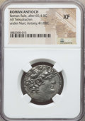 Ancients:Roman Provincial , Ancients: SYRIA. Antioch. Mark Antony, as Triumvir (43-31 BC). ARtetradrachm. NGC XF....