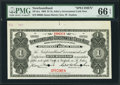 Canadian Currency: , St. John's, NF- Newfoundland Government Cash Note $1 1903 Ch. #NF-5cs Specimen. . ...