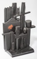 Louise Nevelson (1899-1988) Little Mansion, circa 1955 Polychrome and ebonized wood 32 x 25 x 11 inches (81.3 x 63.5