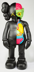 Collectible, KAWS (b. 1974). 4 foot dissected companion (black), 2009. Painted cast vinyl. 48 x 24 x 15 inches (121.9 x 61 x 38.1 cm)...