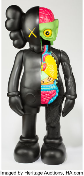 KAWS B Foot Dissected Companion Black Painted - Free invoicing tool kaws online store