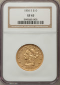 Liberty Eagles: , 1856-S $10 XF45 NGC. NGC Census: (39/179). PCGS Population: (24/106). Mintage 68,000. ...