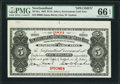 Canadian Currency: , St. John's, NF- Newfoundland Government Cash Note $5 1903 Ch. #NF-6cs Specimen.. ...