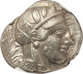 Ancients:Greek, Ancients: ATTICA. Athens. Ca. 440-404 BC. AR tetradrachm (17.18gm). NGC Choice AU 5/5 - 5/5....