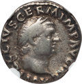 Ancients:Roman Imperial, Ancients: Vitellius (AD 69). AR denarius. NGC Choice Fine....