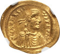 Ancients:Byzantine, Ancients: Heraclius (AD 610-641). AV semissis (2.17 gm). NGC MS 4/5- 4/5....