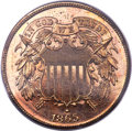 Proof Two Cent Pieces, 1865 2C PR64 Red Cameo PCGS....
