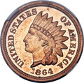Proof Indian Cents, 1864 1C Copper Nickel PR63 Ultra Cameo NGC....