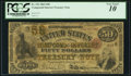Large Size:Compound Interest Treasury Notes, Fr. 192 $50 1863 Compound Interest Treasury Note PCGS Very Good10.. ...
