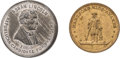 Political:Tokens & Medals, Abraham Lincoln: Pair of 1860 Campaign Medals.... (Total: 2 Items)