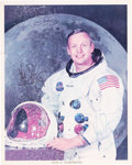 Explorers:Space Exploration, Neil Armstrong Signed White Spacesuit Color Photo with Apollo 7-13 Autopen Crew Photos, all from the Archives of Soviet Genera...