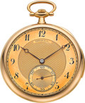 Timepieces:Pocket (post 1900), Tiffany & Co. Very Fine Gold Minute Repeater, circa 1915. ...