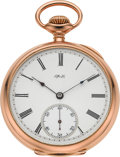 Timepieces:Pocket (pre 1900) , Tiffany & Co. Fine 18k Gold Pocket Watch, circa 1895. ...