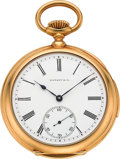 Timepieces:Pocket (post 1900), Patek Philippe & Co. Fine Gold Five Minute Repeater For Tiffany& Co., circa 1900. ...