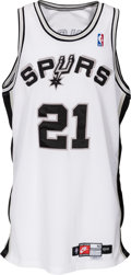 Basketball Collectibles:Uniforms, 1997-98 Tim Duncan Game Worn San Antonio Spurs Rookie Jersey withTeam Letter. ...