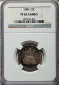 Proof Seated Quarters, 1880 25C PR65 Cameo NGC. Briggs 2-B....