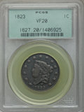 Large Cents, 1823 1C N-2, R.2, VF20 PCGS....