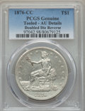 Trade Dollars, 1876-CC T$1 Doubled Die Reverse -- Tooled -- PCGS Genuine. AU Details. NGC Census: (3/25). PCGS Population: (1/22). CDN: $1...