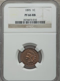 Proof Indian Cents: , 1895 1C PR66 Red and Brown NGC. NGC Census: (18/1). PCGS Population: (22/0). Mintage 2,062. ...