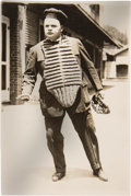 Baseball Collectibles:Photos, 1921 Fatty Arbuckle Original News Photograph by George GranthamBain, PSA/DNA Type 1....