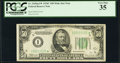 Fr. 2105-I* $50 1934C Mule Federal Reserve Note. PCGS Very Fine 35