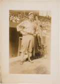 Baseball Collectibles:Photos, 1920's Eddie Collins Original News Photograph by George GranthamBain, PSA/DNA Type 1....