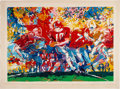 """Football Collectibles:Others, 1973 Leroy Neiman Signed """"Alabama Handoff"""" Serigraph. ..."""