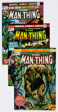 Bronze Age (1970-1979):Horror, Man-Thing Group of 18 (Marvel, 1975-77) Condition: AverageFN/VF.... (Total: 18 Comic Books)