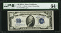Small Size:Silver Certificates, Fr. 1702* $10 1934A Silver Certificate. PMG Choice Uncirculated 64 EPQ.. ...