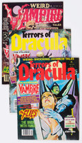 Magazines:Horror, Terrors of Dracula/Weird Vampire Tales Group of 16 (Eerie Publications, 1970s) Condition: Average VF.... (Total: 16 Comic Books)