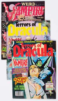 Terrors of Dracula/Weird Vampire Tales Group of 16 (Eerie Publications, 1970s) Condition: Average VF.... (Total: 16 Comi...