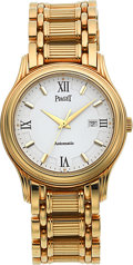 Timepieces:Wristwatch, Piaget Very Fine Ref. 24001 M 501 D, Gold Automatic With GoldBracelet. ...