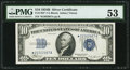 Small Size:Silver Certificates, Fr. 1703* $10 1934B Silver Certificate. PMG About Uncirculated 53.. ...