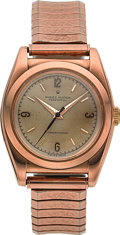 Timepieces:Wristwatch, Rolex Ref. 3131 Very Fine Rose Gold Bubble Back, circa 1935. ...