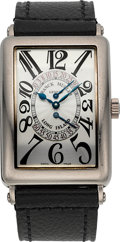 Timepieces:Wristwatch, Franck Muller Ref. 1100 DSR White Gold Long Island Double Retrograde Seconds. ...