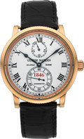 Timepieces:Wristwatch, Ulysse Nardin 150th Anniversary Limited Edition Gold MarineChronometer, No. 11/250. ...